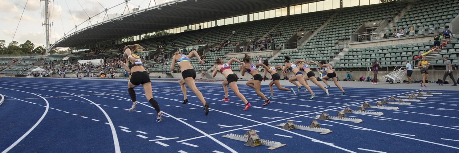 Athletic Centre - Start of Track Event - Photography by Paul K Robbins