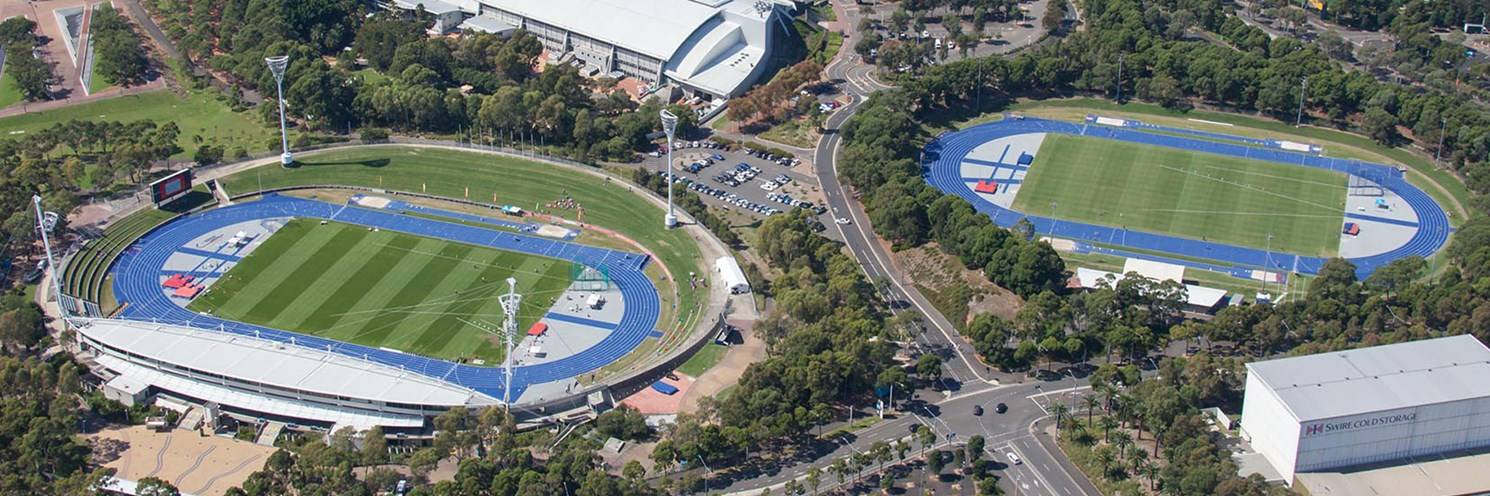 Athletic Centre - Aerial View - Courtesy by Sydney Olympic Park